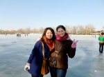 My first time on a frozen lake!